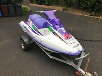 Kawasaki XI Super Sport 700 cc Jet Ski. Just serviced and ready to go on trailer