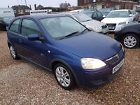 Vauxhall Corsa 1.2 i 16v Active 3dr (a/c), SERVICE HISTORY. LONG MOT. IDEAL FIRST CAR. CHEAP TAX