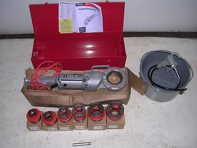 Ridgid 700 Power Pony Pipe Threader Six 12r Die Heads 12-2 Oiler Case Manual