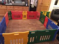 EXTRA LARGE PLAY PEN. 2m x 2m. Very easy to put together