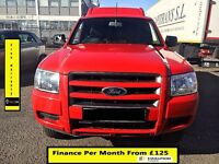 Ford Ranger 2.5 Cab Pickup 4x4- 140BHP - 52K Miles Only- 1 Owner - 1Yr Mot- FSH 7 Stamps - Warranty