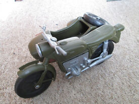 Vintage Action Man Motorbike and Sidecar
