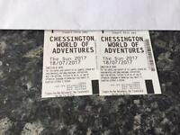 2 x chessington world of adventure tickets 18th July 2017