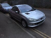 Peugeot 206 cc convertible 2004 reg excellent condition,VERY LOW MILES ,full leather ,px welcome