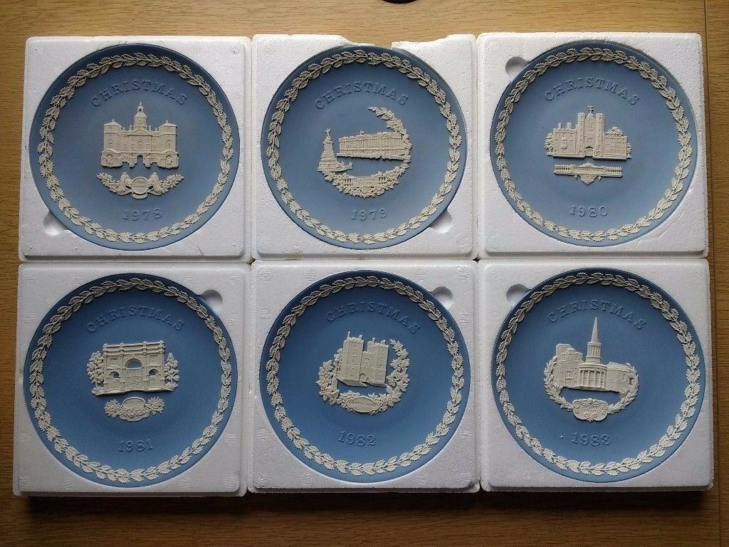 Wedgewood Christmas Plates x6 1978-1983 boxed