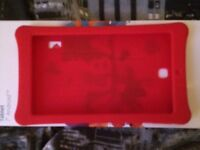 Red Silicone 7inch tablet case