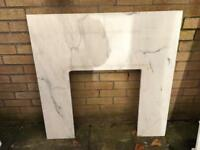 Marble fireplace surround - £20