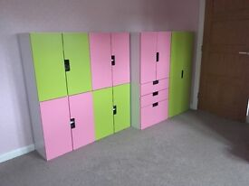 Pink & Green IKEA STUVA children's storage units