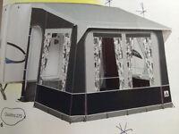 Dorema Quattro 275 Grey Caravan Porch Awning, Easygrip aluminium frame and veranda pole as new