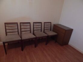 4 Mackintosh Chairs LOT NUMBER 9073 in EXCELLENT CONDITION
