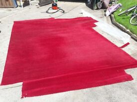 2 x red patterned carpets in nearly new condition