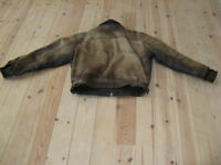 "Leather Motorcycle Jacket/Casual 40"" chest"