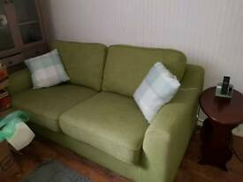 Dfs 2 seater green sofa