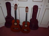 Do your children/grandchildren want to play guitar? Two Guitars with instruction books for sale