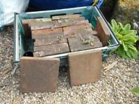 TWENTY ONE TERRACOTTA FLOOR TILES 9cm by 9cm by 3cm. PICK UP MATLOCK OR NOTTINGHAM