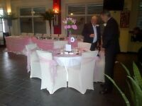 Cheap chair cover hire with sashe from 80p. DIY for parties.