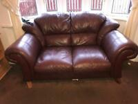 3 + 2 Seater Sofa Brown leather