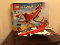 Lego 5892 Creator 3 in 1 Sonic Boom Plane 100% Complete