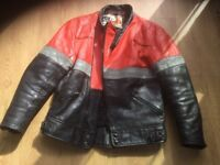 Ladies leather motorcycle jacket size 8/10