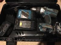 Makita 18v DHP458 hammer drill driver set