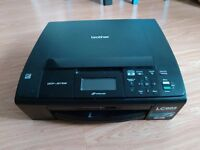 Brother DCP-J515W All-in-one (printer/scanner/copier) partially working for parts or repair