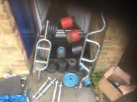 240kg + metal weights plus bars