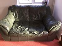 2-seater Green Leather sofas
