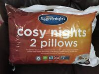 New Silent night cosy nights 2 pillow - Hypoallergenic and machine washable