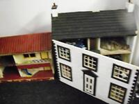 DOLL HOUSES HAND MADE TWO WITH CHARACTERS TRANSFORMERS ALOT MORE