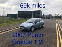 69k miles! £1385 2007 Fiat Punto 1.2l* like fiesta clio yaris micra corsa c1 aygo 107 getz polo