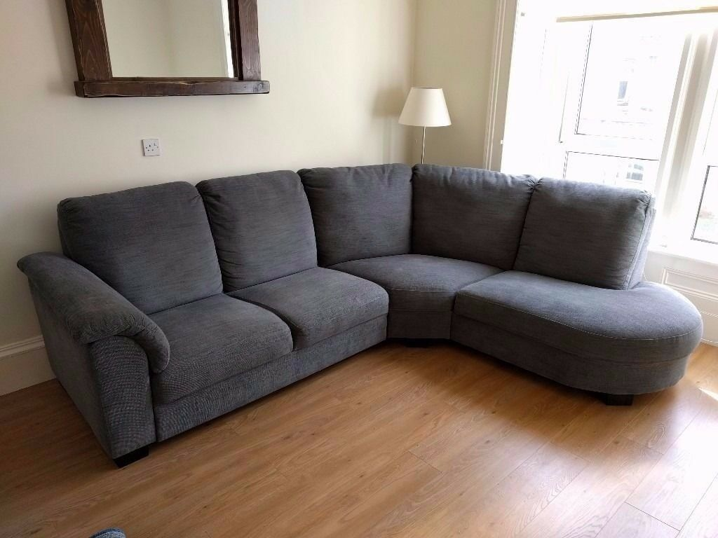 Like new grey corner sofa ikea tidafors ono in for Sofas rinconeras ikea