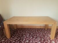 Wooden Dining Table 8 Chairs