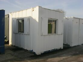 12ft x 8ft Anti Vandal Portable Cabin Site Security Office 3 viewing wnidows shipping container