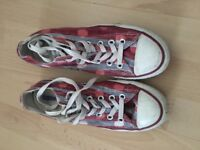 All star converse - size 6 - pink/white/blue