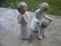 3 WILLOW TREE ANGEL FIGURES [ GUARDIAN ANGEL AND ANGEL OF WISHES
