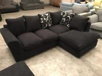 New black corner sofa