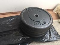 4x10kg York black weights iron