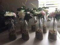 Wedding table jars x 7