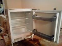Under counter fridge designed for a fitted kitchen in excellent condition and full working order