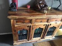 Jali Indian wood furniture set
