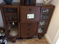 Antique sideboard/display cabinet