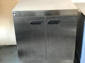 Commercial stainless steel parry hotcupboard fully working