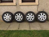 Honda CRV alloy wheels with excellent tyres