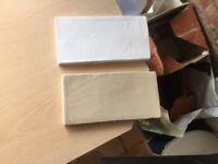 Cream and white ceramic kitchen tiles
