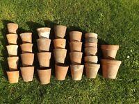 Vintage Clay Flower Pots