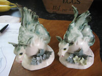 2 Chessel Pottery Isle of Wight Dragons