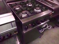 4 BURNER COMMERCIAL ELECTRICAL FASTFOOD COOKER MACHINE GAS OVEN CATERING TAKEAWAY KITCHEN SHOP