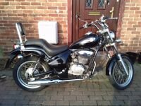 2003 Gilera Coguar 125 learner legal chopper, 1 year MOT, good condition, runs well, bargain,,,