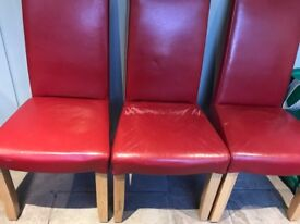 Four dining chairs - used - slightly worn