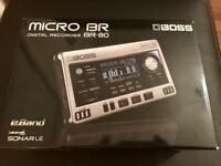 Boss micro br80 recording multi effects device